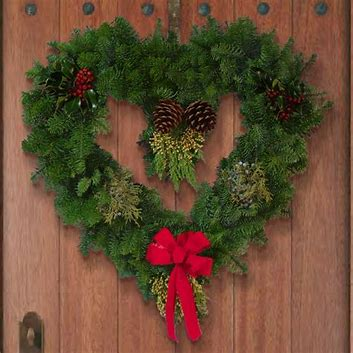 Xmas heart wreath